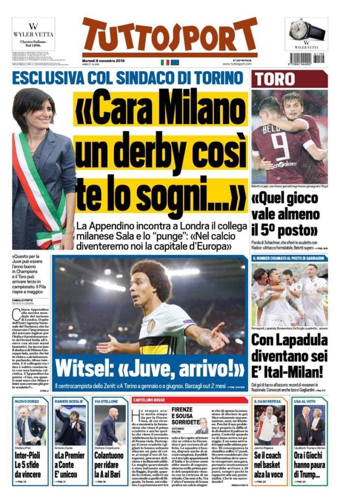 tutto Rassegna stampa sportiva 8 novembre 2016
