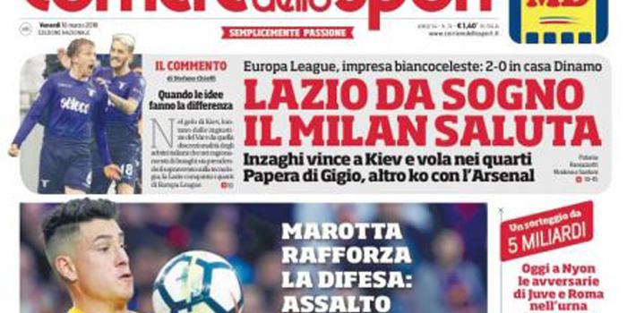 """Rassegna stampa sportiva   """"Juve, colpo Gimenez"""" """"Pesca pericolosa"""""""
