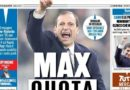 "Rassegna stampa sportiva: ""Max quota 101"" ""Juve, prova di fuga"""