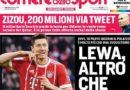 """Rassegna stampa: """"Lewa, altro che Icardi"""" """"Perin abbraccia la Juve"""""""