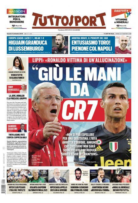 Rassegna stampa sportiva 21 settembre