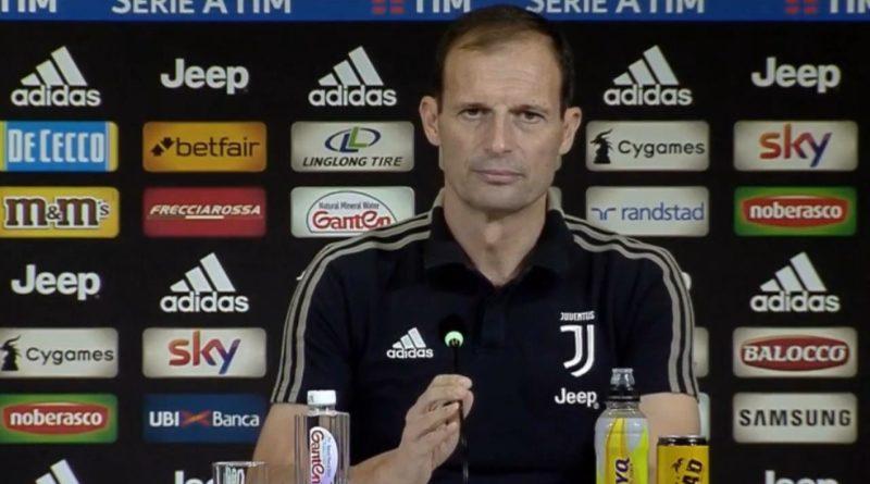 Conferenza stampa ALLEGRI: 'Gioca Szczesny, riposa Chiellini. Douglas Costa…'