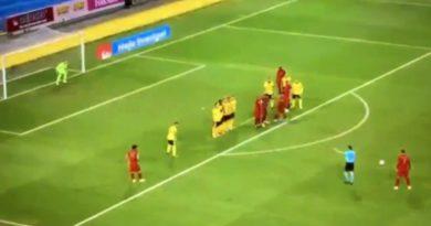 Punizione pazzesca di Cristiano Ronaldo: gol numero 100 in nazionale – VIDEO